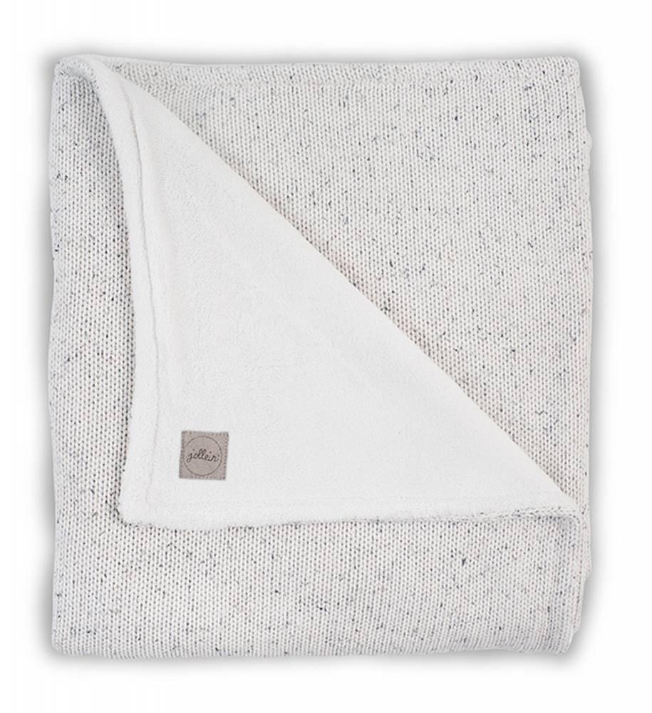 JOLLEIN Blanket 100x150 Confetti Knit - Natural/Coral fleece