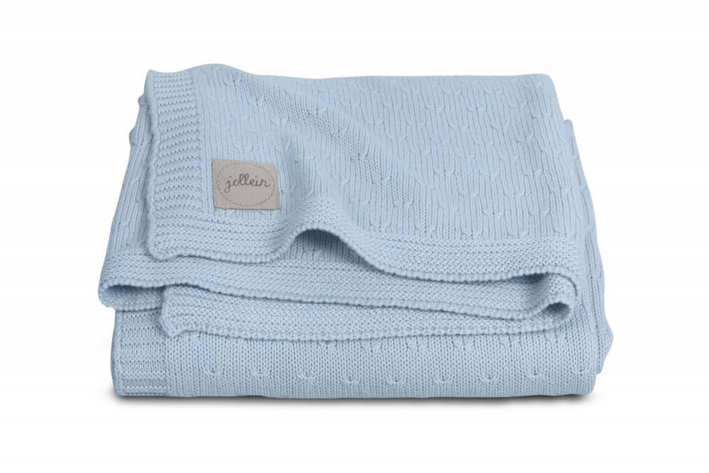 JOLLEIN Blanket 75x100 - Soft knit Blue