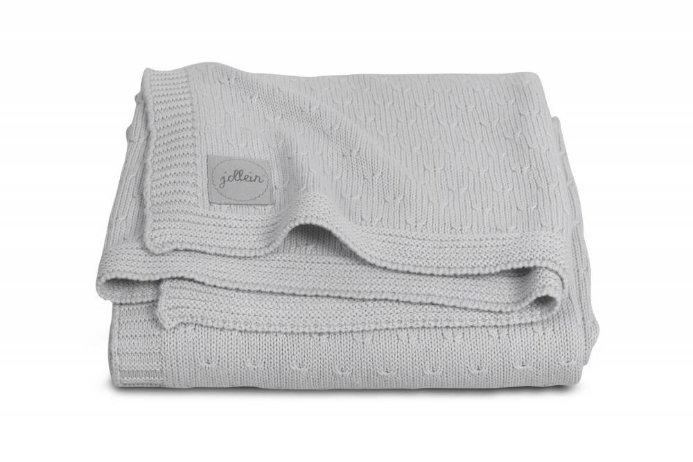 JOLLEIN Blanket 75x100 - Soft Knit Grey