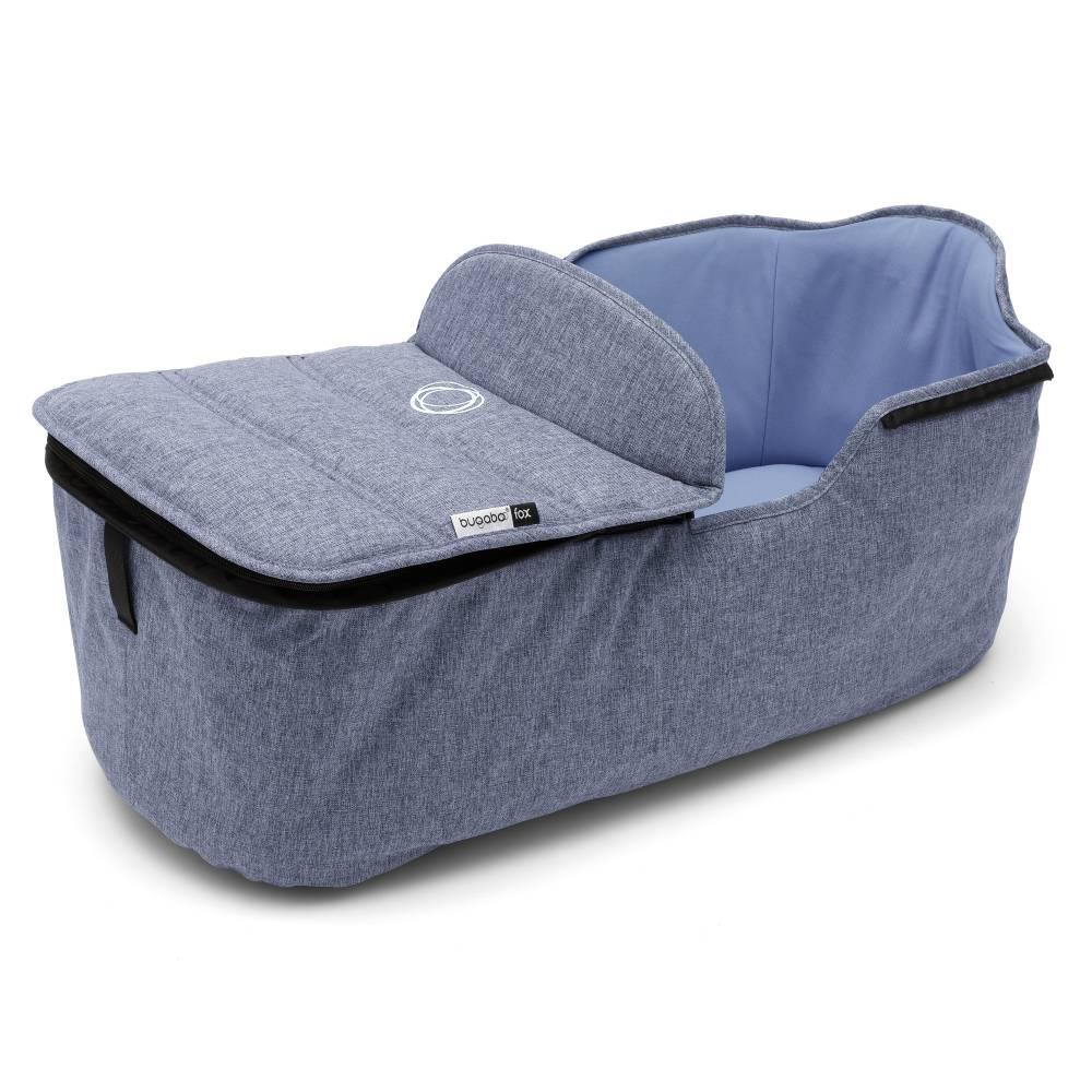 BUGABOO Fox Carrycot Tailored Fabric Set - Blue Melange