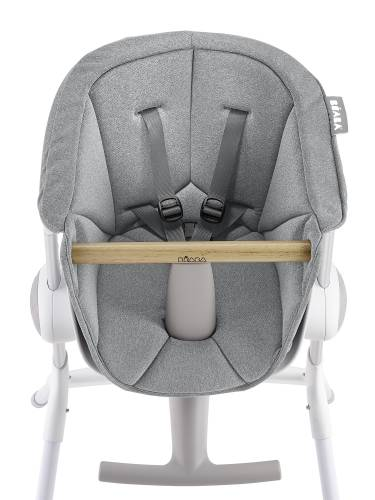 BEABA Up&Down High Chair Textile Seat - Grey