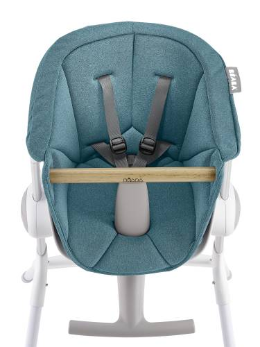 BEABA Up&Down High Chair Textile Seat - Blue