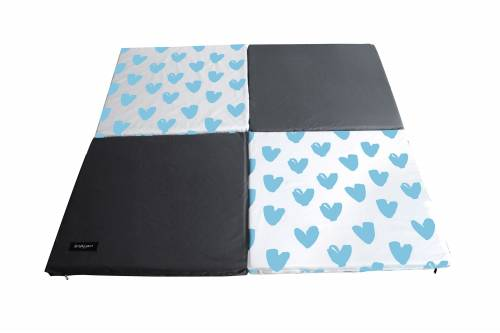 SIMPLY Good Portable Soft Mat Blue Heart