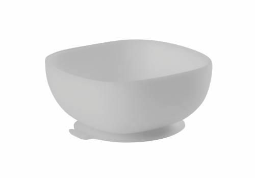 BEABA Silicone Suction Bowl - Grey
