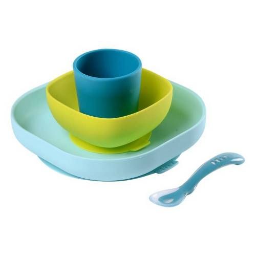 BEABA Silicone Meal Set 4pcs - Blue