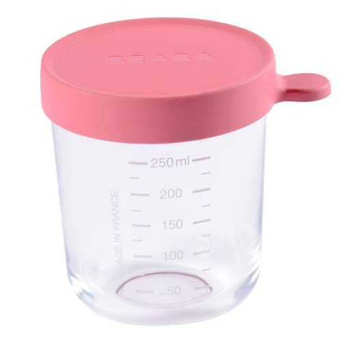 BEABA Food Jar Glass 250 ml - Dark Pink