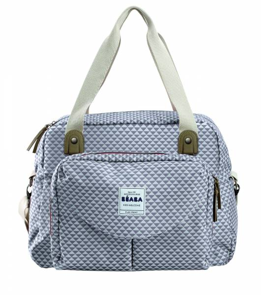 BEABA Geneva Bag - Grey/Coral