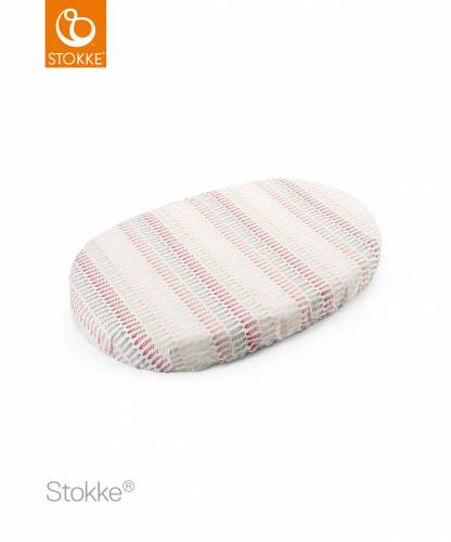 STOKKE Sleepi Fitted Mini Sheet - Coral Straw