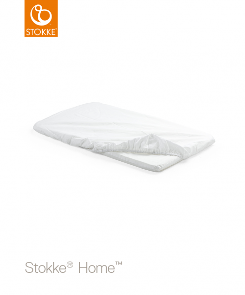 STOKKE Home Bed Fitted Sheet - White 2pc