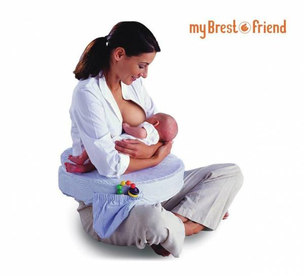 My Brest Friend Nursing Pillow - Blue Stripes