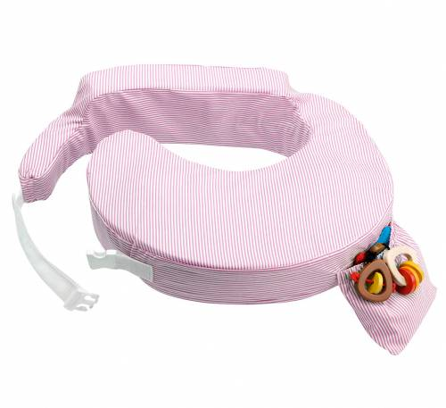 My Brest Friend Nursing Pillow - Pink Stripes