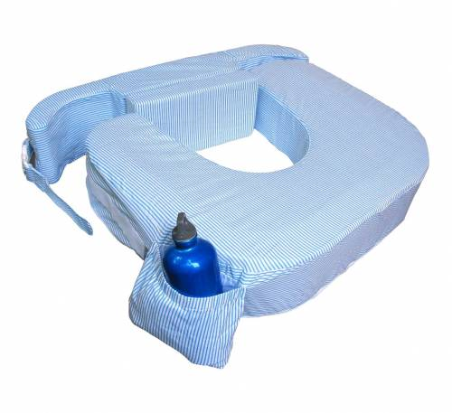 My Brest Friend Nursing Pillow Twin - Blue Stripes