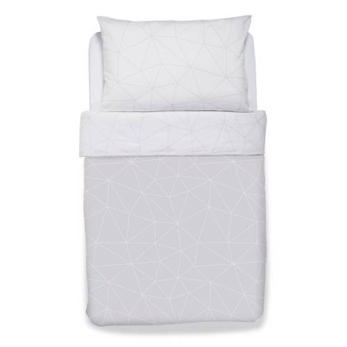 SNUZ Cot Bed Duvet & Pillow Cover - Geo Mono
