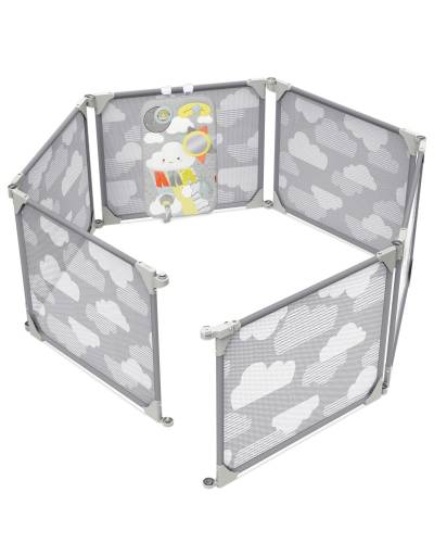 SKIP HOP Playview Expandable Enclosure - Grey/Clouds