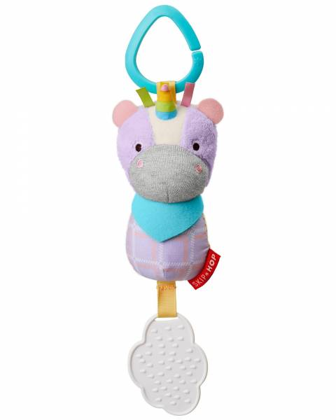 SKIP HOP Bandana Buddies Chime&Teethe Toy - Unicorn