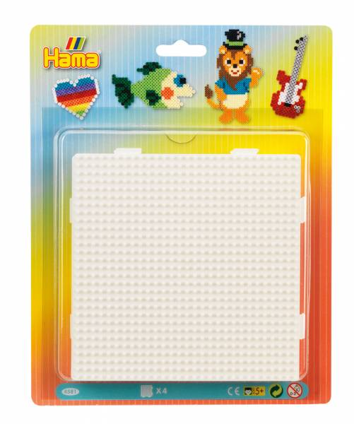 Hama Pegboard Blister - 4 Large square