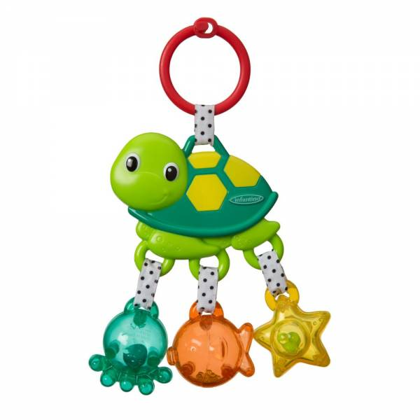 INFANTINO Jungle Sea Charms Turtle Rattle