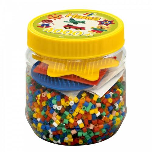 Hama Beads and Pegboards in tub - 4000 beads Yellow