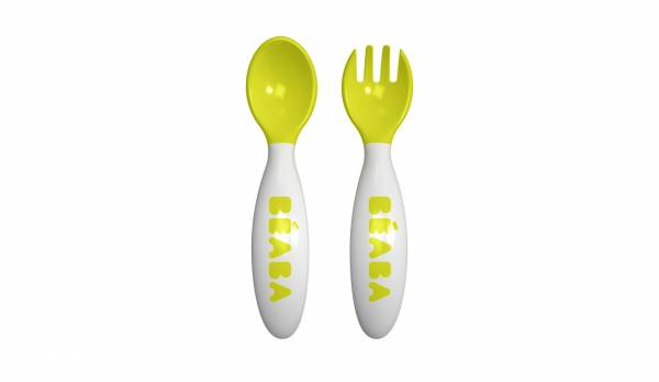 BEABA Ellipse 2nd Age Cutlery - Neon