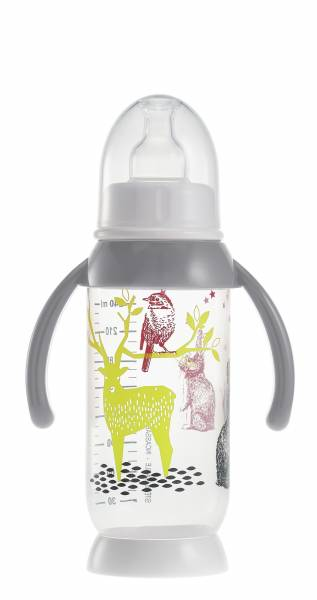 BEABA Bottle 240ml - Bunny Grey Handle