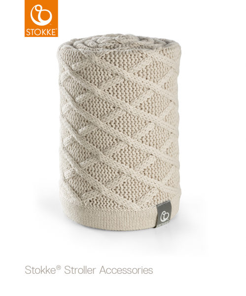 STOKKE Stroller Blanket - Cable Creamy