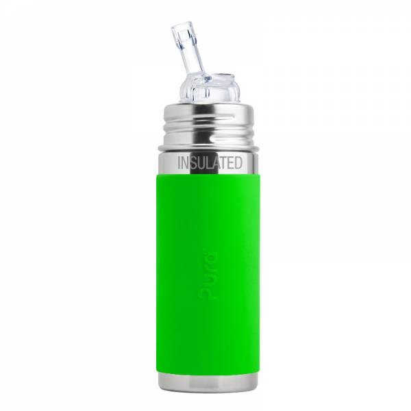 PURA Straw Cup Insulated 260ml Green