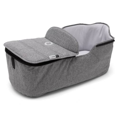 BUGABOO Fox Carrycot Tailored Fabric Set - Grey Melange
