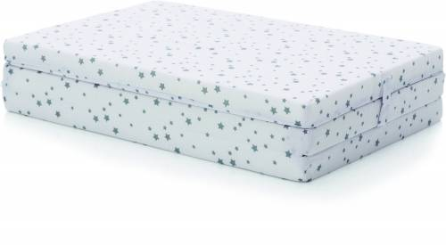 FILLIKID Mattress for Travel Cot Star Grey