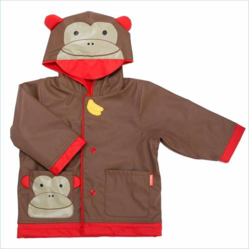 SKIP HOP Zoo Raincoat Monkey Size 5-6